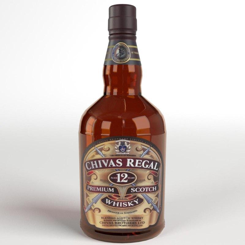 3d chivas regal whisky model