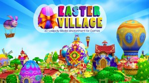 eggs easter village 3d max
