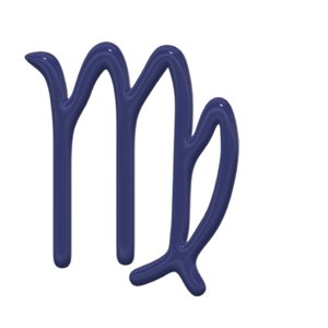 virgo zodiac sign 3d model