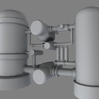 3d model industrial pipe