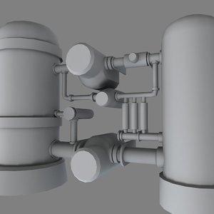 3d model industrial pipe
