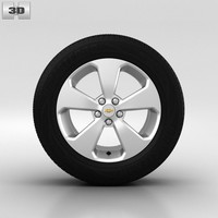 3d chevrolet wheel