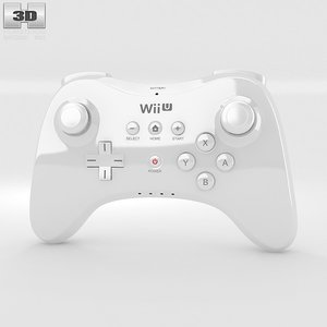 gamepad nintendo u 3d model