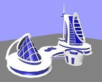 unique building design 3d obj