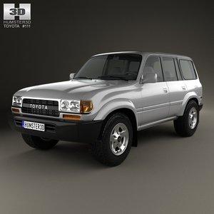 3d model toyota j80 land