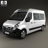 vauxhall movano passenger 3d model