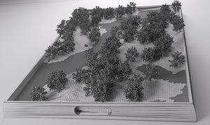 nordic miniature landscape 2016 3d model