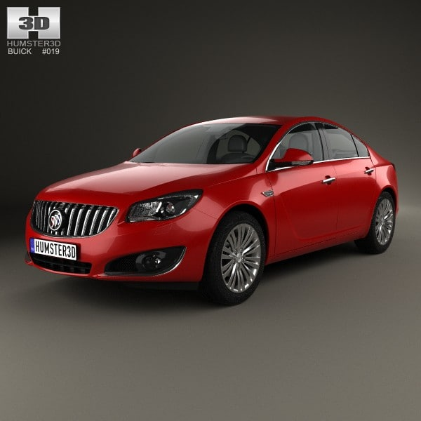 2014 buick regal 3d model