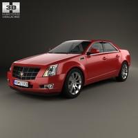 cadillac cts 2008 3d model