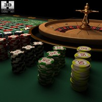 casino roulette table 3d lwo