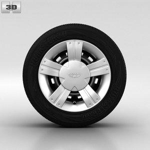 3d 3ds daewoo wheel