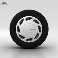 3d model daewoo wheel