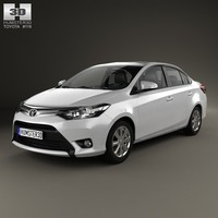Toyota Yaris sedan with HQ interior 2014