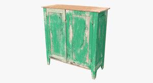 3d model old cupboard