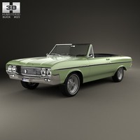 3d buick convertible skylark model