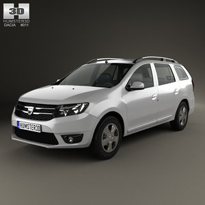 3d dacia logan mcv model