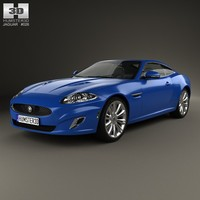 xk 2011 coupe 3d model