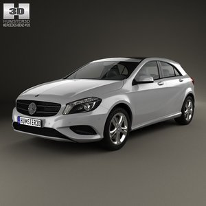 benz mercedes a-class 3d model