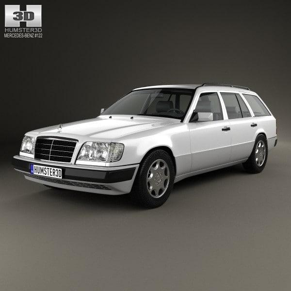 3d benz mercedes e-class model