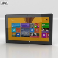 3d microsoft surface pro model