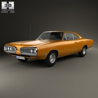 coupe dodge coronet 3d model