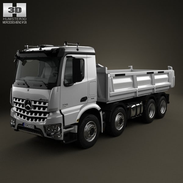 benz mercedes arocs 3d 3ds