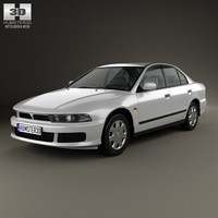 3d 3ds mitsubishi galant sedan
