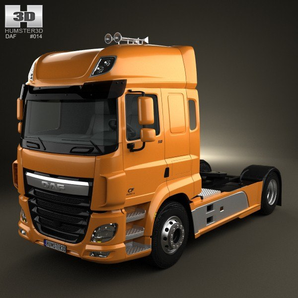 3d model of daf cf tractor