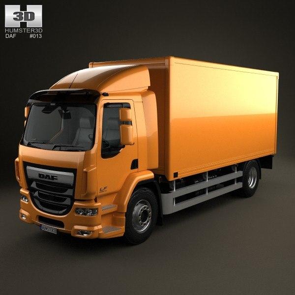 3d model box daf lf