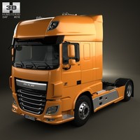 3d model daf xf tractor