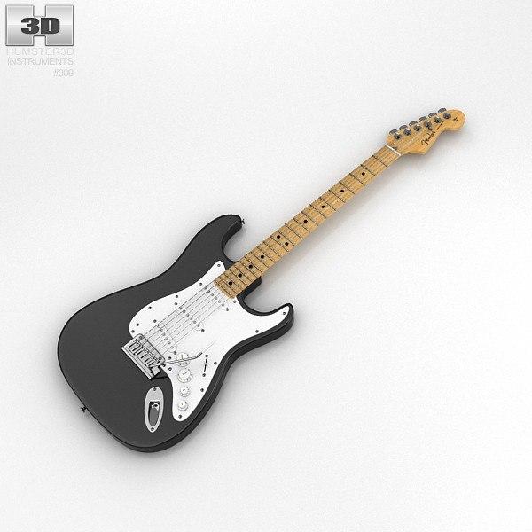 3d fender stratocaster