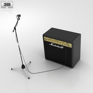 amp microphone 3d max