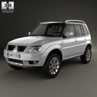 3d model of mitsubishi pajero tr4