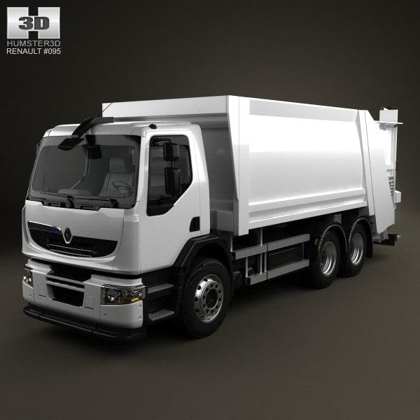 3d model garbage hybrys premium