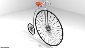 3d bicycle cycle vintage model