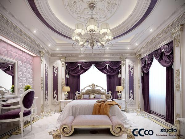 classic bedroom 3d model