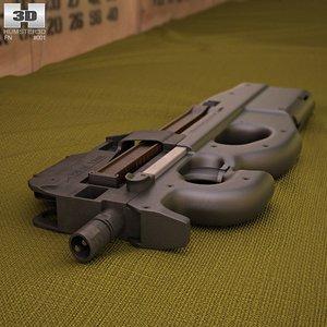 3d model fn p90