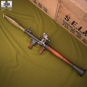 rpg rpg-7 3d model