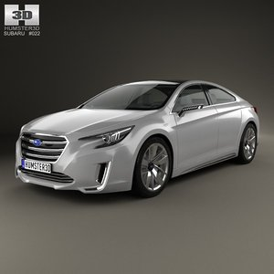 3d model 2015 concept subaru
