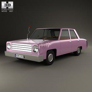 3d homer simpsons car model