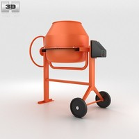 mini concrete mixer 3d model