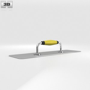 3d model plastering trowel