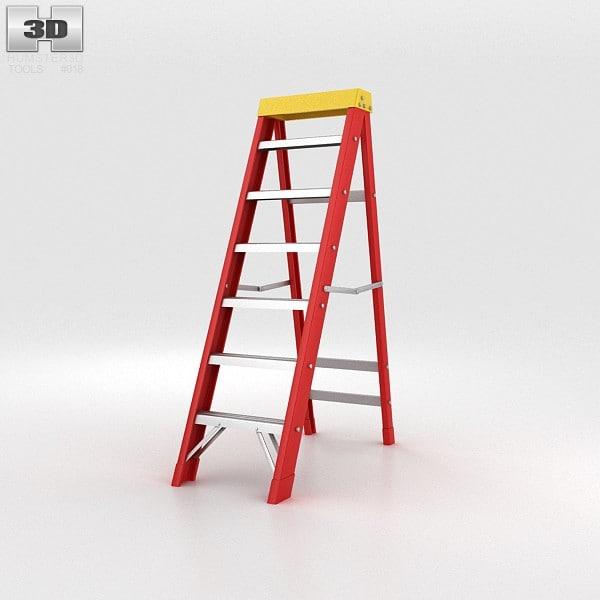 3d ladder stepladder model