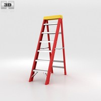 3d ladder stepladder model