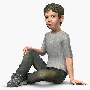 boy character rig 3d max
