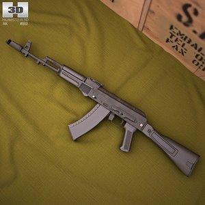 ak ak-74m c4d