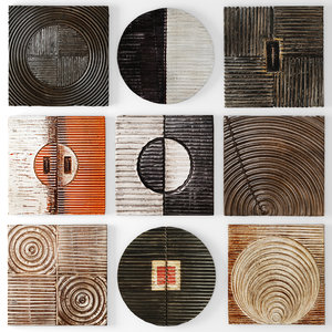 wood wall sculpture 3d obj