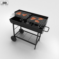 3d barbecue grill