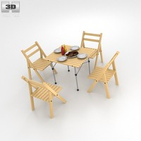 3d barbecue table