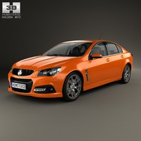 3d model holden commodore vf